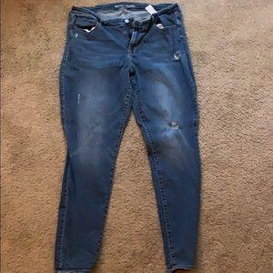 Old navy size 18 long rockstar jeans